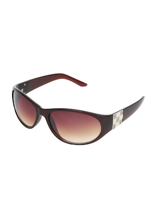 Zyaden Brown Oval sunglasses for women 417 - 14923959 - Standard Image - 2