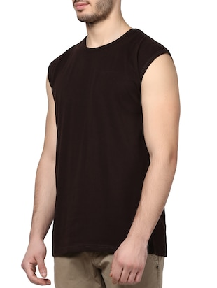 brown cotton t-shirt - 14926016 - Standard Image - 2