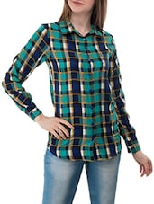 multi colored checkered crepe shirt -  online shopping for Shirts