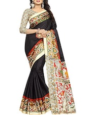 black printed saree -  online shopping for Sarees