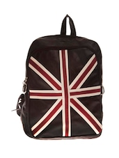 black leatherette regular backpack -  online shopping for backpacks