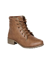 brown lace-up ankle boot -  online shopping for boots
