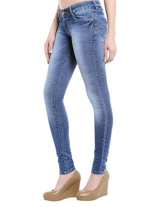 blue denim stone wash jeans - 14966650 - Standard Image - 2