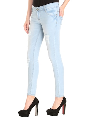 Distressed low rise jeans - 14966660 - Standard Image - 2
