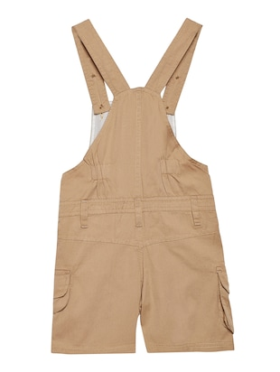 beige cotton dungaree - 14972741 - Standard Image - 2