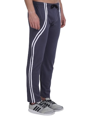 grey cotton  full length track pant - 14974192 - Standard Image - 2
