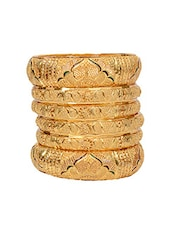Gold Tone Bangles - By - 14985805