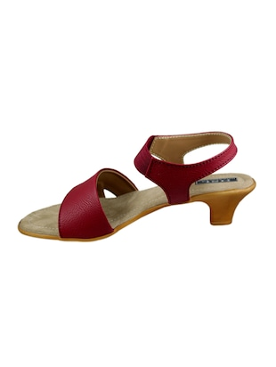 red faux leather back strap sandals - 14986268 - Standard Image - 2