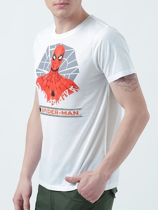 white cotton character t-shirt - 14999359 - Standard Image - 2