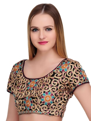 Fuchsia Designs multi colored embroidered blouse - 14999484 - Standard Image - 2