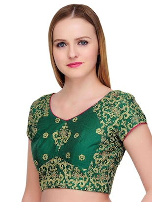 Fuchsia Designs green embroidered blouse - 14999487 - Standard Image - 2