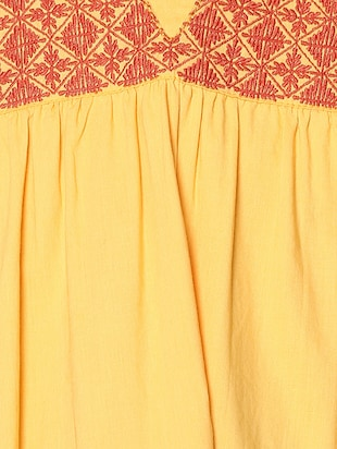 yellow cotton frock - 15000007 - Standard Image - 5