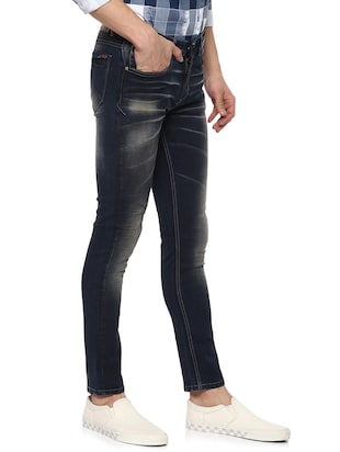 navy blue light washed jeans - 15000630 - Standard Image - 2