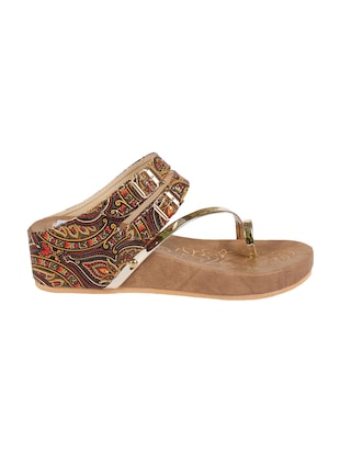 ANAND ARCHIES Brown Color Artificial Leather Wedges For Girl's & Women's ( AA-425-BROWN-36 ) - 15004004 - Standard Image - 2