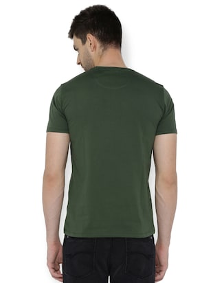 green cotton chest print t-shirt - 15007320 - Standard Image - 2