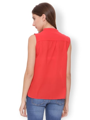 Button down ruffled top - 15007485 - Standard Image - 2