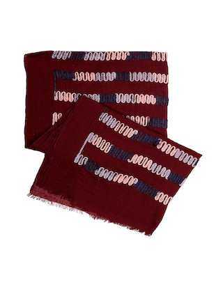 red cotton scarf - 15010890 - Standard Image - 2