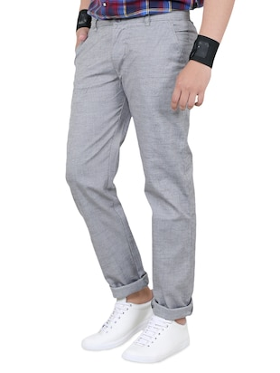 grey cotton chinos - 15011514 - Standard Image - 2