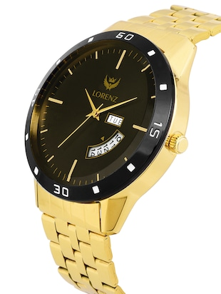 Lorenz MK-1070A Original Day & Date Edition Gold Men's Analog watch - 15013152 - Standard Image - 2