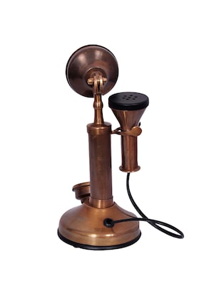 Antique Style Brass Telephone Non Working Only For Decorative - 15013596 - Standard Image - 2