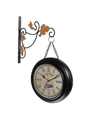 Vintage Two Sided Metal Train Station Clock Wall Clock - 15013603 - Standard Image - 2