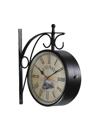 Antique Look Metal Train Station Clock Double Side Wall Clock - 15013649 - Standard Image - 2