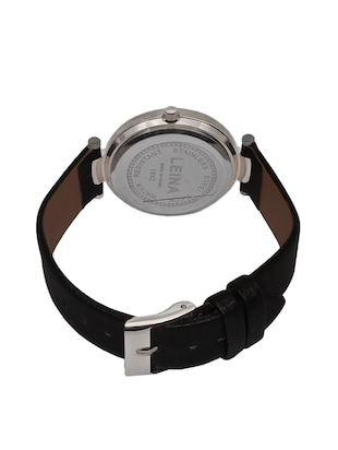 JM New Leina Style L1 Silver Black Leather Belt Watch - 15013995 - Standard Image - 2