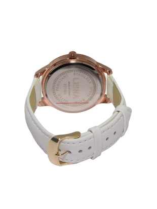 JM New Leina Style L2 White Leather Belt Watch - 15014007 - Standard Image - 2