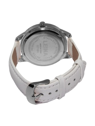 JM New Leina Style L2 Silver Dial White Leather Belt Watch - 15014039 - Standard Image - 2