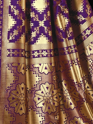 purple cotton silk woven saree with blouse - 15014267 - Standard Image - 2