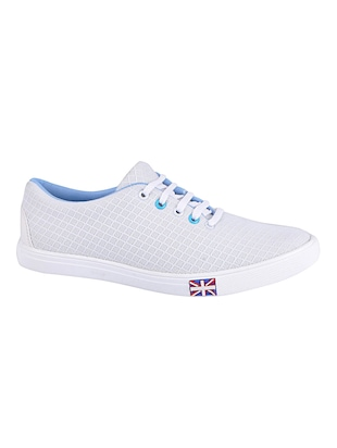 white Mesh lace up sneaker - 15015456 - Standard Image - 2