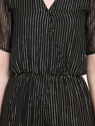 black striped romper jumpsuit - 15015530 - Standard Image - 5