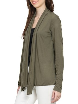 solid green viscose shrug - 15015847 - Standard Image - 2