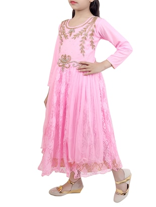 pink net party gown - 15015997 - Standard Image - 2