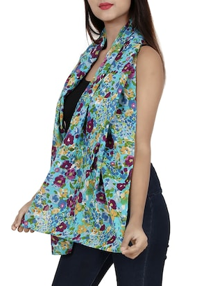 green cotton scarf - 15017172 - Standard Image - 2