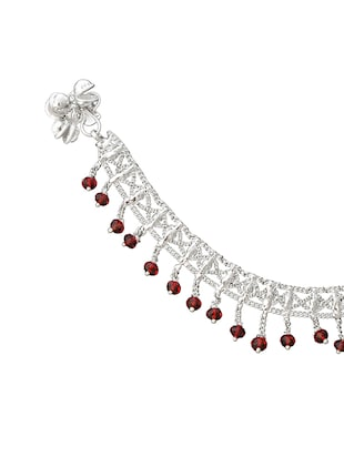 silver metal anklets and payal - 15017486 - Standard Image - 2