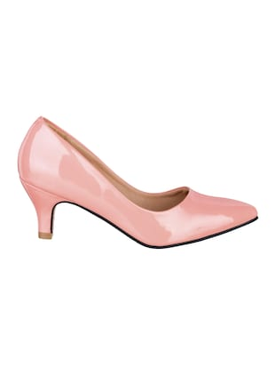 pink patent leather slip on pumps - 15017655 - Standard Image - 2