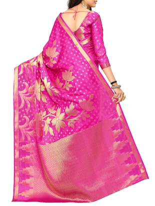 pink art silk kanjivaram saree with blouse - 15019296 - Standard Image - 2