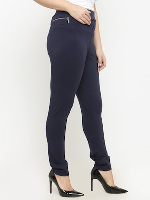 navy blue cotton jegging - 15019740 - Standard Image - 2