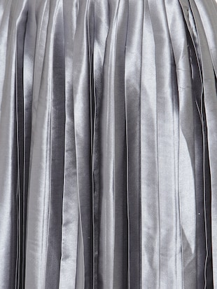 silver solid pleated skirt - 15019750 - Standard Image - 5