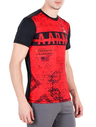 red polyester tshirt - 15019787 - Standard Image - 2