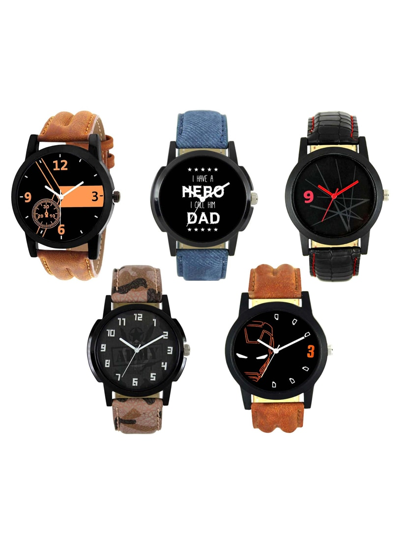 FRIX Analog Round Dial Watch Set Of 5 tn10
