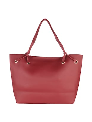 red leatherette handbag - 15020879 - Standard Image - 2