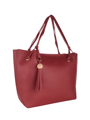 red leatherette handbag - 15020879 - Standard Image - 5