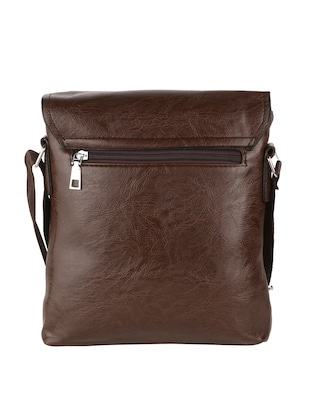 brown leatherette  regular sling bag - 15020892 - Standard Image - 2