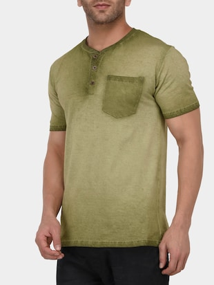 green cotton washed tshirt - 15021011 - Standard Image - 2