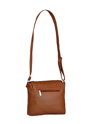 tan leatherette regular sling bag - 15021083 - Standard Image - 2