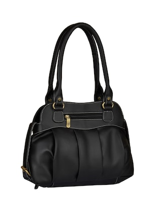 black leatherette  regular handbag - 15021123 - Standard Image - 2