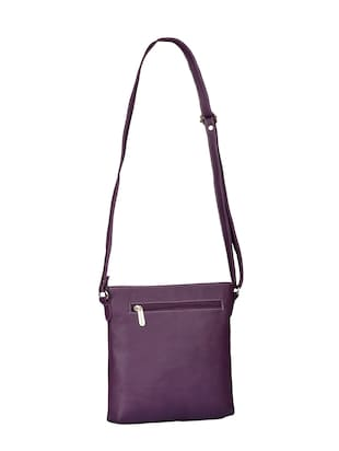 purple leatherette  regular sling bag - 15021149 - Standard Image - 2