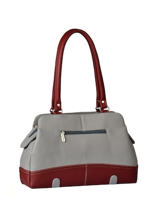 grey leatherette  regular handbag - 15021156 - Standard Image - 2